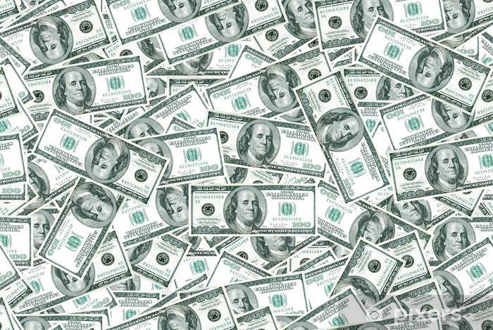 Nálepka Pixerstick Dolarů na pozadí - Finance