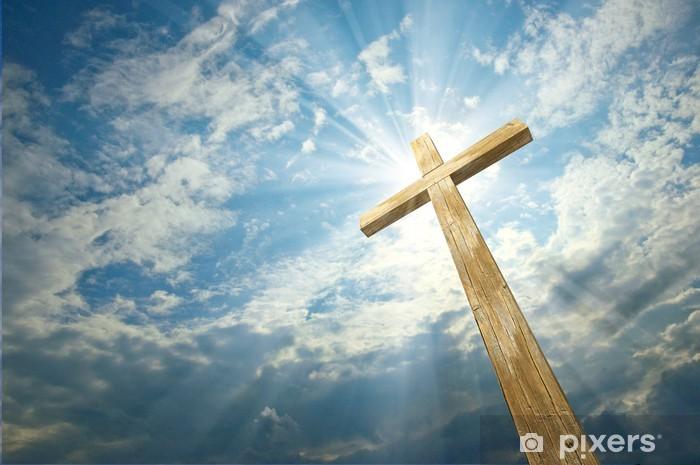 cross against the sky Vinyl Wall Mural - Religion