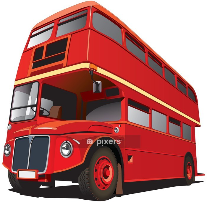 London Bus Wall Decal - On the Road