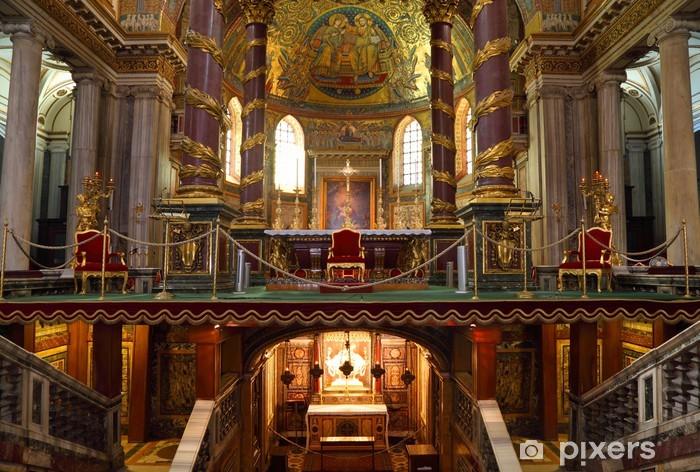 Nálepka Pixerstick Oltář v papežské bazilice Santa Maria Maggiore. - Evropa