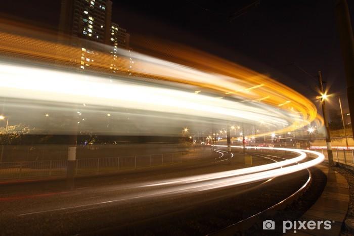 Nálepka Pixerstick Lehká příčka v Hongkongu, to ukazuje dopravního ruchu. - Na cestě