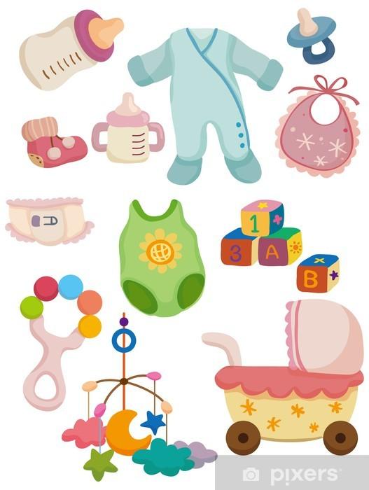 Fotomural Icono De Cosas De Bebé De Dibujos Animados Pixers Vivimos Para Cambiar
