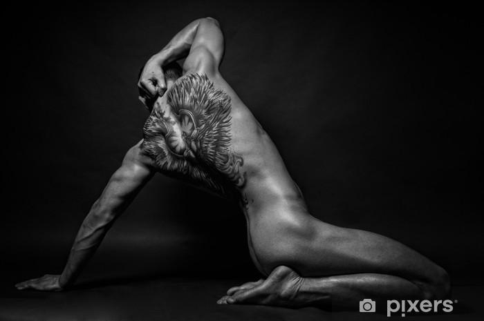Fototapeta winylowa Model z anioła tatuaż - Tatuaże