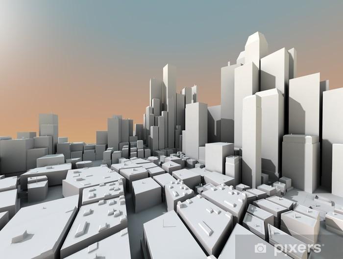 vinilos 3d ciudad con rascacielos.jpg