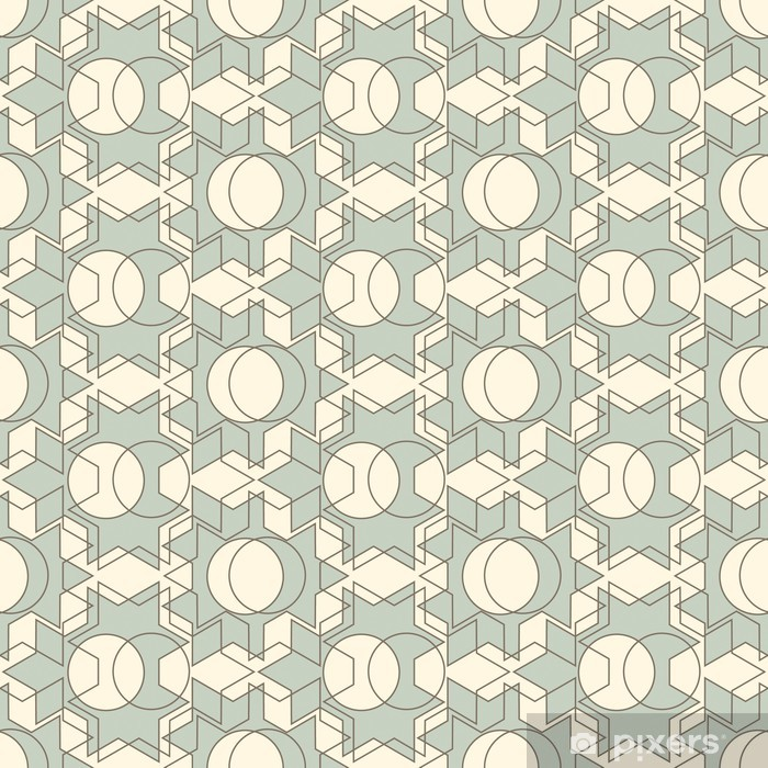 lattice pattern Pixerstick Sticker - Themes