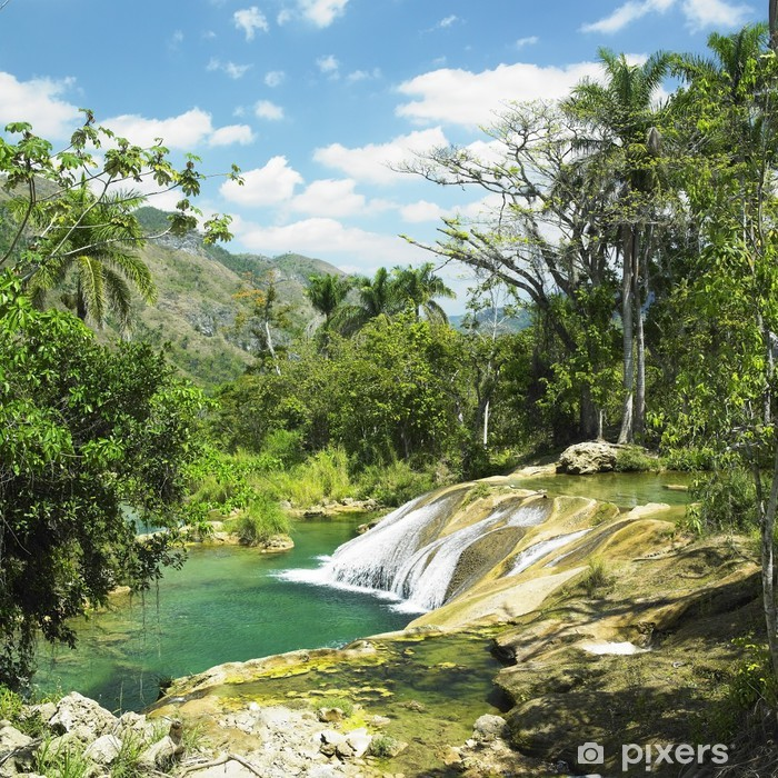 Naklejka Pixerstick El Nicho wodospad, Cienfuegos Province, Kuba - Tematy