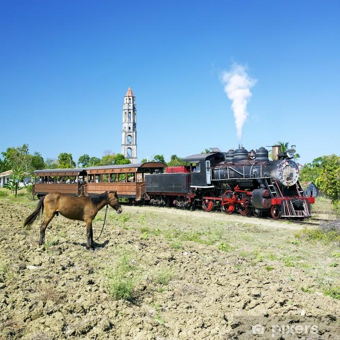 Pixerstick Sticker Toeristische trein Vallei van de Sugar Mills, Manaca Iznagas, Cuba - Thema's