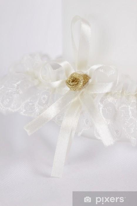 fotobehang kousenband van de bruid • pixers® - we leven om te veranderen