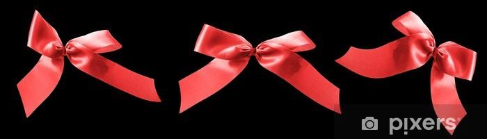 Vinyl-Fototapete Red ribbon Bögen für valentines geschenke - Internationale Feste