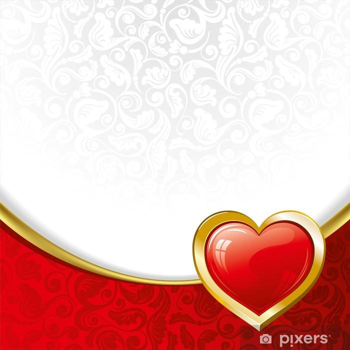 Vinyl-Fototapete Schönen Hintergrund auf Valentinstag - Internationale Feste