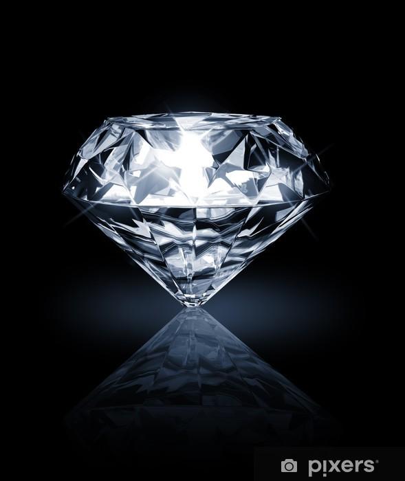 Naklejka Pixerstick Diamentu na ciemnym tle - Sukces i osiągnięcia