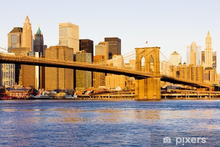 Naklejka Pixerstick Brooklyn Bridge, Manhattan, Nowy Jork, USA - Brooklyn Bridge