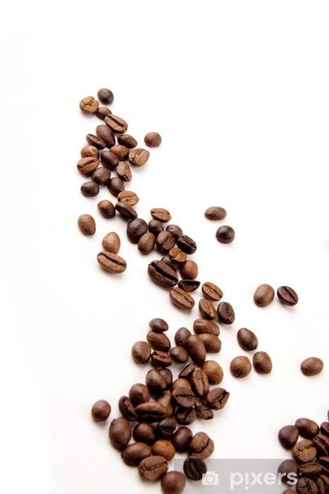 Vinyl-Fototapete Kaffebohnen verstreut - Heißgetränke