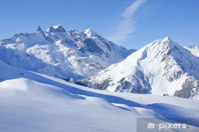 Vinil Duvar Resmi Den Alpen winterlandschaft -