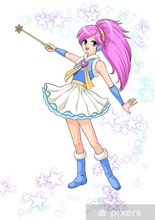 Vinilo Pixerstick Animacion Japonesa Anime Manga Chica Magica Ilustracion Pixers Vivimos Para Cambiar