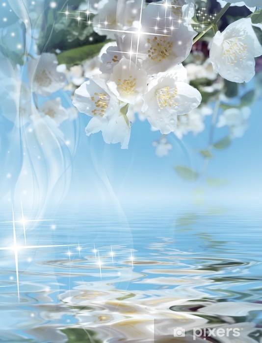 Naklejka Pixerstick Magical background - kwitnący jaśmin - Święta Narodowe