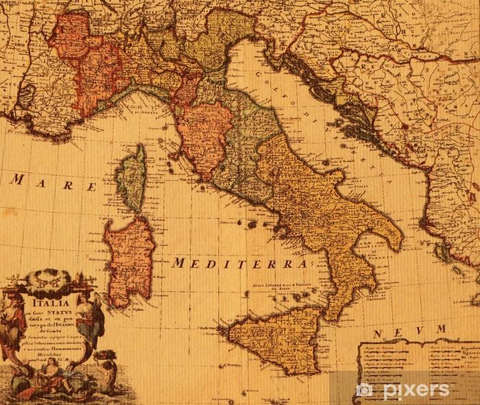 Italia Cartina Antica.Carta Da Parati Antica Mappa D Italia Pixers Viviamo Per Il Cambiamento
