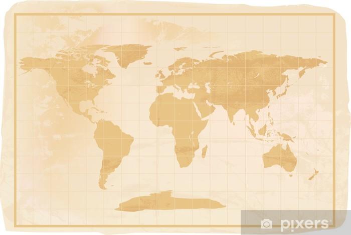 Fotomural Estándar Estilo antiguo mapa del mundo anitioque - Temas