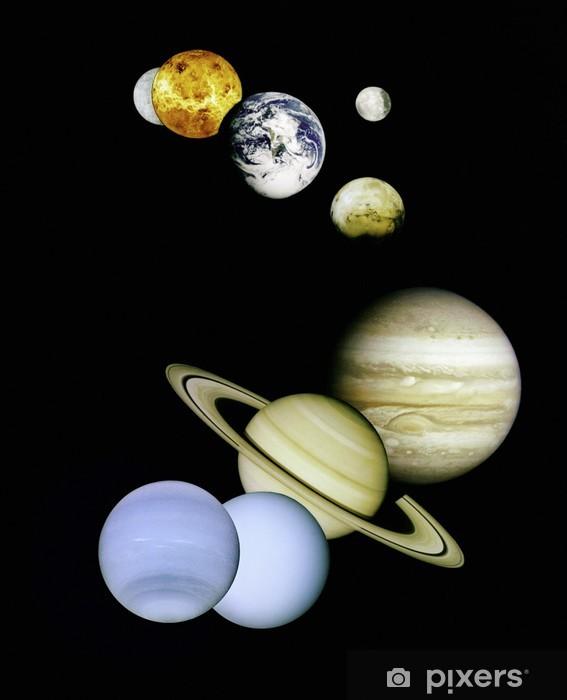 Sticker Pixerstick Planètes dans l'espace. - Planètes