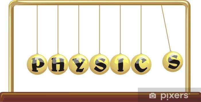 Naklejka Pixerstick Fizyka - kołyska Newtona - Nauki stosowane i ścisłe