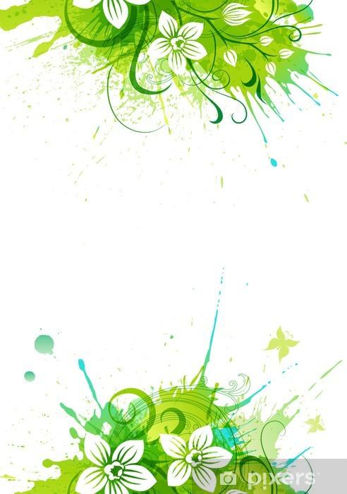 Carta Da Parati Stilizzato Fiore Di Orchidea Su Uno Sfondo Grunge