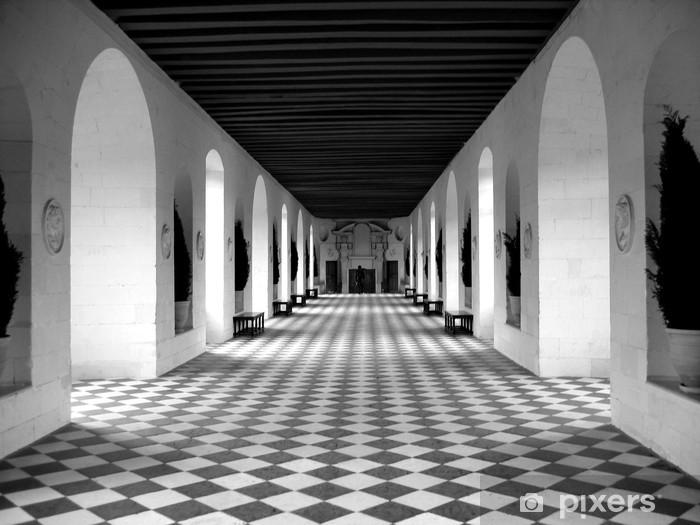 Naklejka Pixerstick Podłoga w szachownicę - Tematy