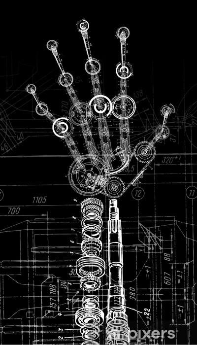 Pixerstick Sticker Robothand - Zakelijke Concepten