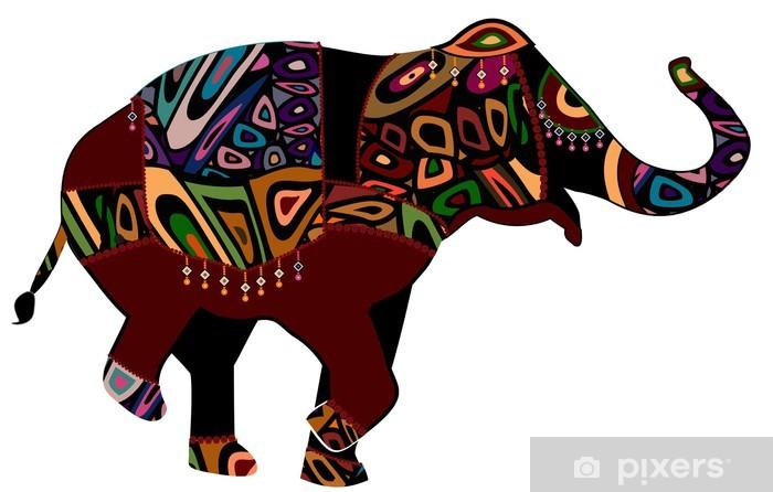 Naklejka Pixerstick Słoń cyrkowy - Święta Narodowe