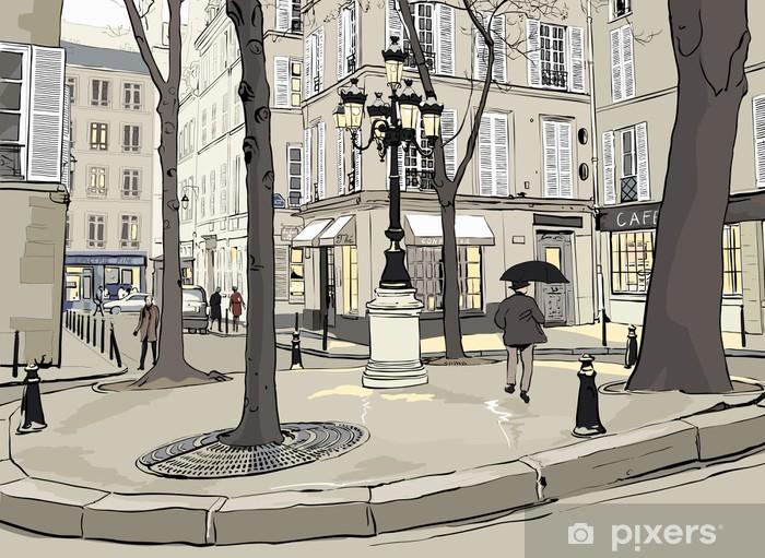 Naklejka Pixerstick Plac furstemberg w Paryżu - Miasta