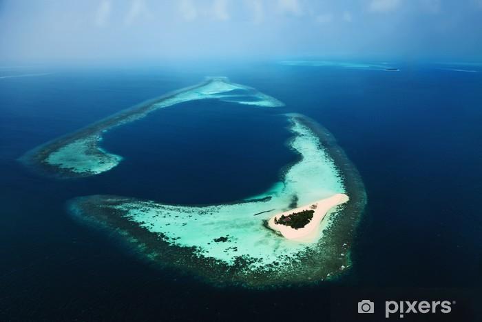 Vinyl-Fototapete Malediven Luft 3 - Urlaub