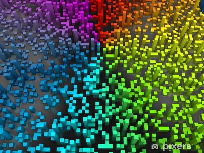 Sticker Pixerstick Résumé cubes de fond -