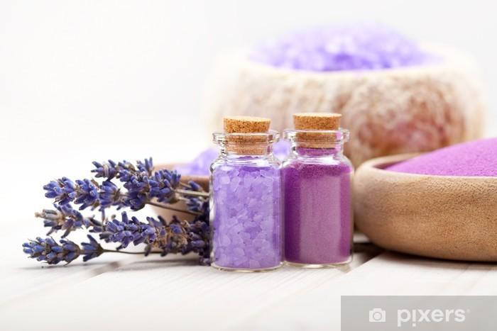 Pixerstick Sticker Spa en wellness - Lavendel mineralen - Bestemmingen