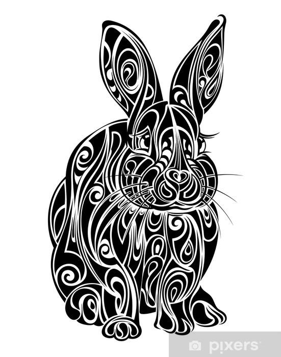 Fotomural Estándar Conejo. Diseño del tatuaje - Conejos