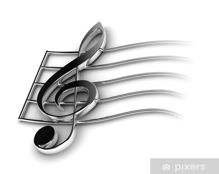 Nálepka Pixerstick Houslový klíč - Hudba