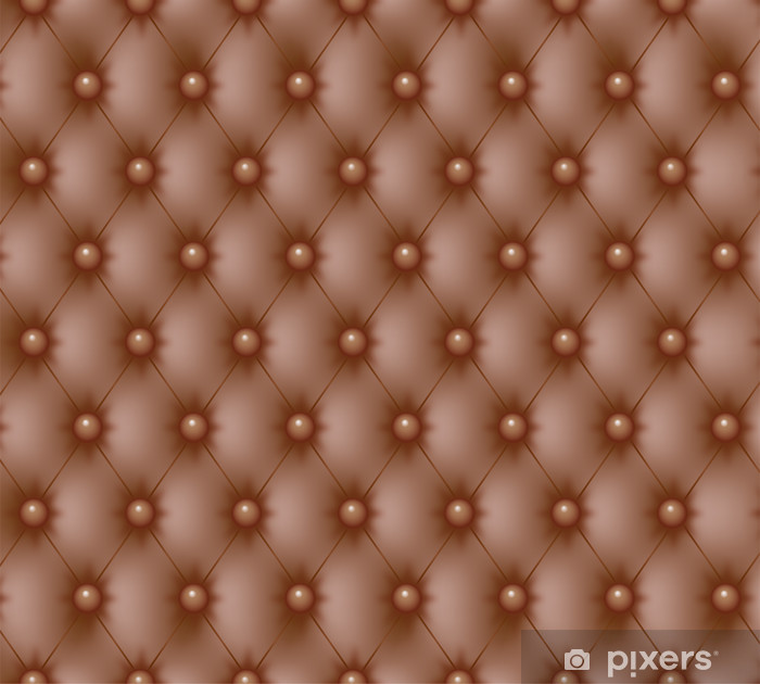 Pixerstick Sticker Capitonné Chesterfield marron-1 - Texturen