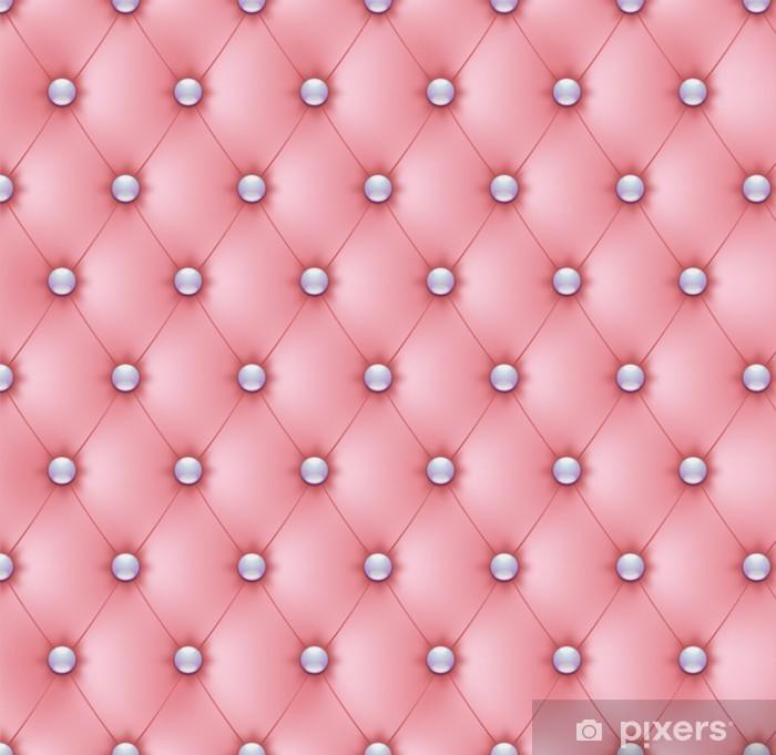 Vinilo Pixerstick Capitonné rosa boutons nácares-1 - Estilos