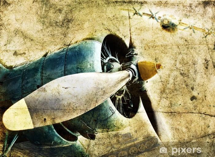 Papier peint vinyle Moteur d'avion Grunge - iStaging