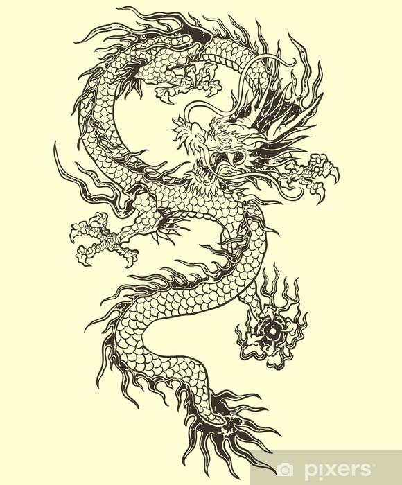 Papier peint vinyle Dragon de vecteur - Styles