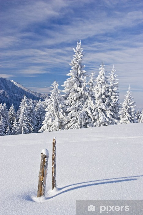 Sticker Pixerstick D'hiver dans les montagnes - Nature et régions sauvages