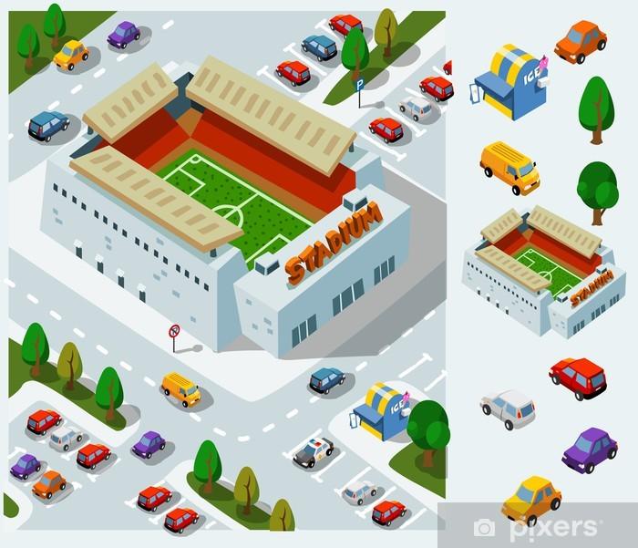 Poster Stade de football isométrique Vecteur - Ecologie