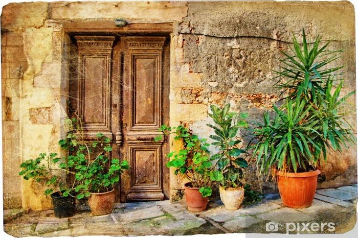 Naklejka Pixerstick Stare greckie drzwi obrazkami - Tematy