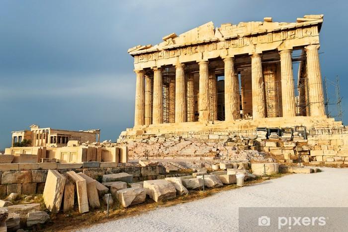 Fotomural Estándar Vista panorámica del templo del Partenón, la Acrópolis, Atenas, Grecia - Temas
