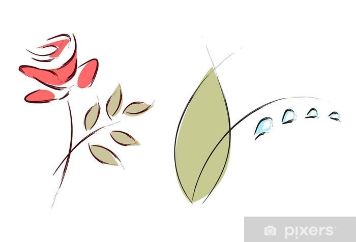 Fototapeta Kresby květiny • Pixers® • Žijeme pro změnu c5514c7e51