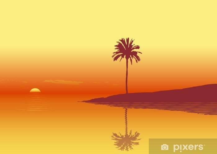 Naklejka Pixerstick Zachód słońca - Woda