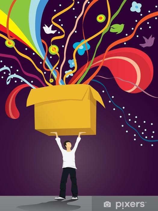 Naklejka Pixerstick Box radości - Inne uczucia