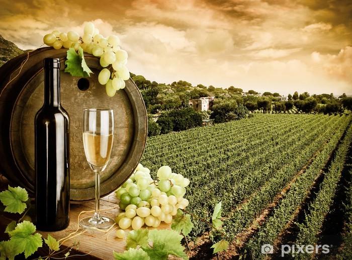 Fototapeta winylowa Wino i winnice w stylu vintage - Tematy