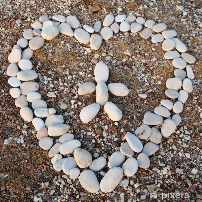 Poster Herz aus Stein - Ethische Fragen