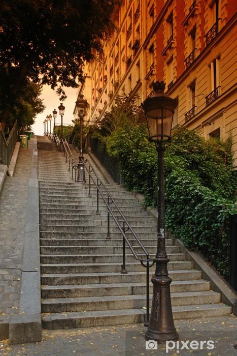 Sticker Pixerstick Paris, escalier de la butte Montmartre - Thèmes