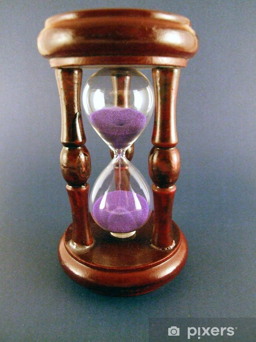 hourglass with pink sand Vinyl Wall Mural - Home and Garden