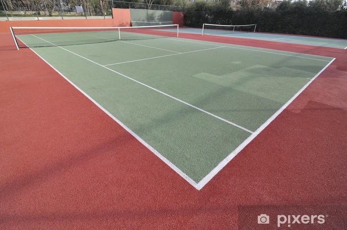Tennis Court Vinyl Wall Mural - Individual Sports